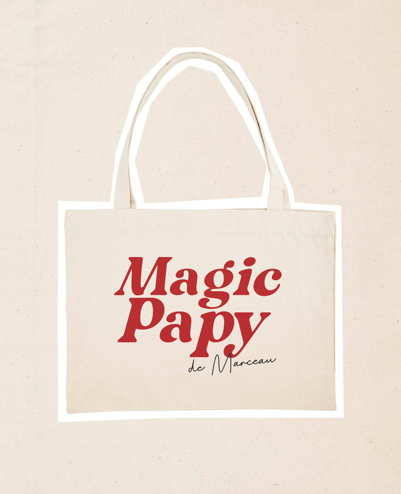 Cabas personnalisable Magic Papy