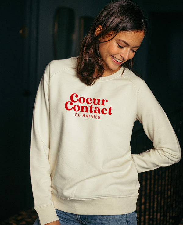 Sweat femme Coeur Contact personnalisable