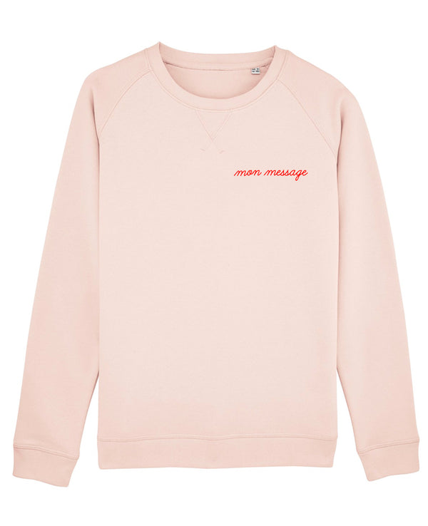 Sweat femme broderie Manuscrite personnalisable