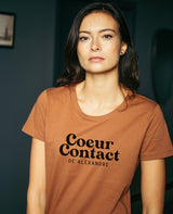 T-shirt femme personnalisable Coeur Contact