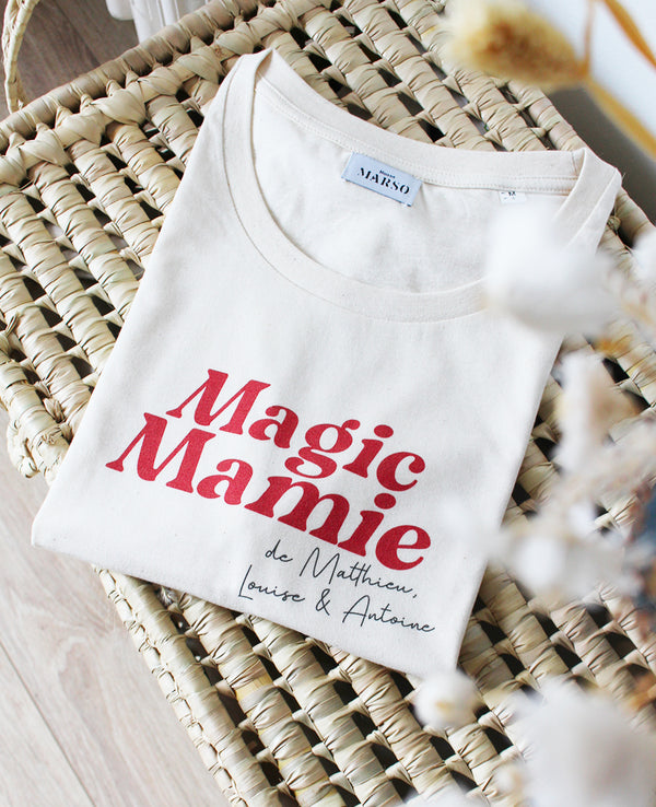 T-shirt femme Magic Mamie Personnalisable
