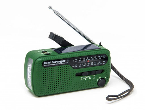 Kaito Voyager V2 Portable Solar / Hand Crank AM/FM, Shortwave & NOAA Weather Emergency Radio