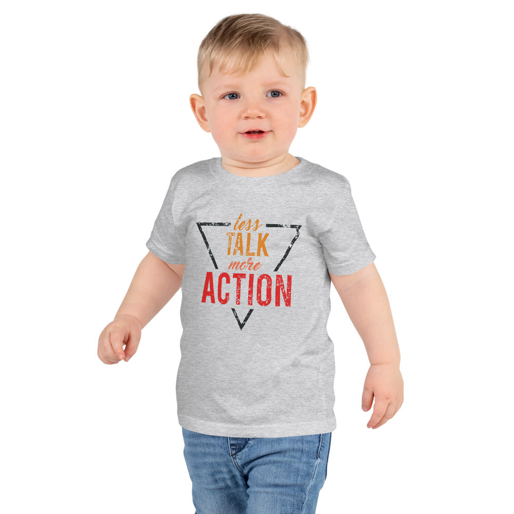 Less Talk More Action kids T-shirt