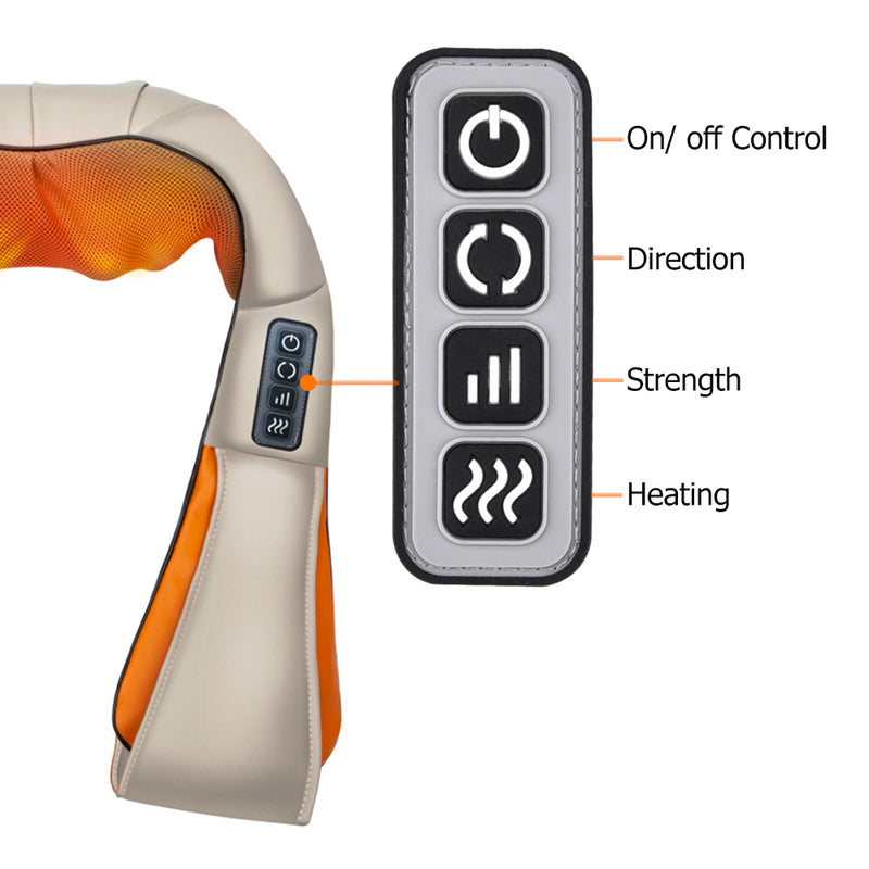 Comfortable Wearable Back, Neck, and Shoulders Electric Massager - Wellness Temple
