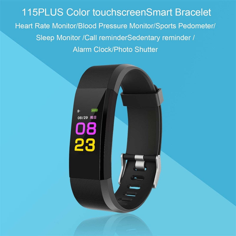 Colorful Touchscreen Smart Watch Fitness and Sleep Tracker - Wellness Temple
