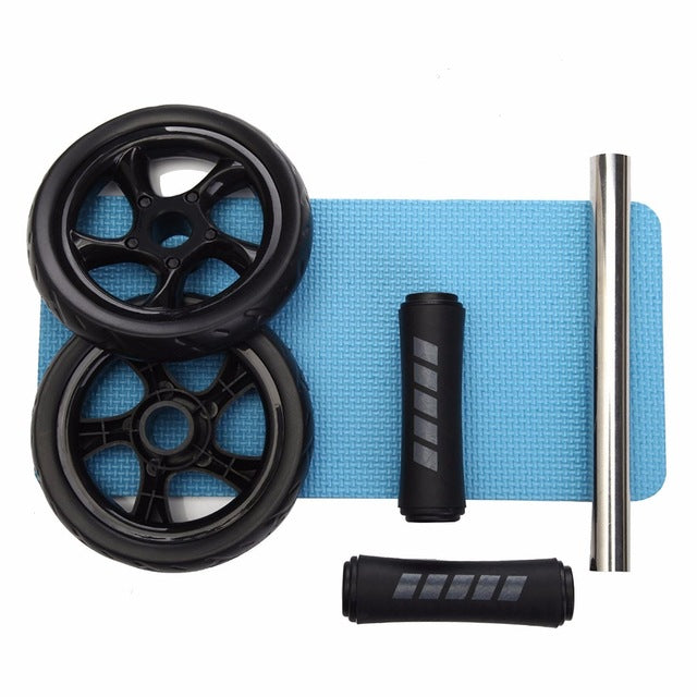 No Noise Abdominal Wheel PLUS Resistance Band - Wellness Temple