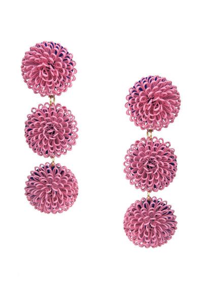 PomPom Earrings - Pink