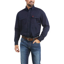 Load image into Gallery viewer, Ariat FR Solid Navy Work Shirt