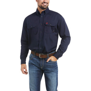 Ariat FR Solid Navy Work Shirt