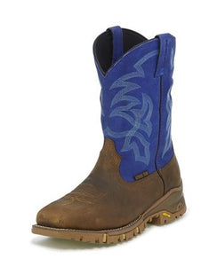 Tony Lama Roustabout Blue Steel Toe Waterproof TW5010