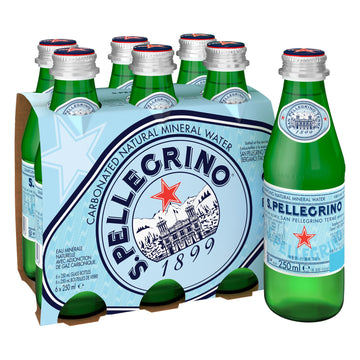 S.PELLEGRINO 250ML GLASS (6 in a pack)