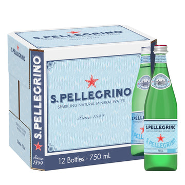 S.PELLEGRINO 750ML GLASS (12 in a pack)