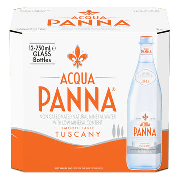 ACQUA PANNA 750ML GLASS (12 in a pack)