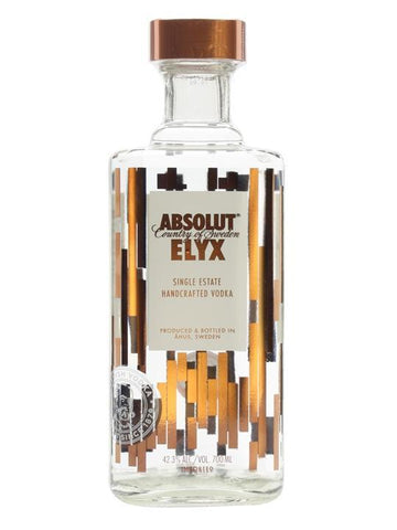 ABSOLUT ELYX VODKA 70CL