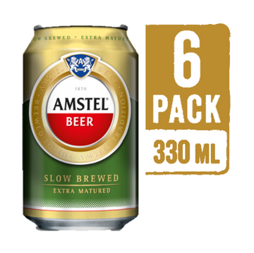 AMSTEL 330 ML CAN (PACK OF 6)