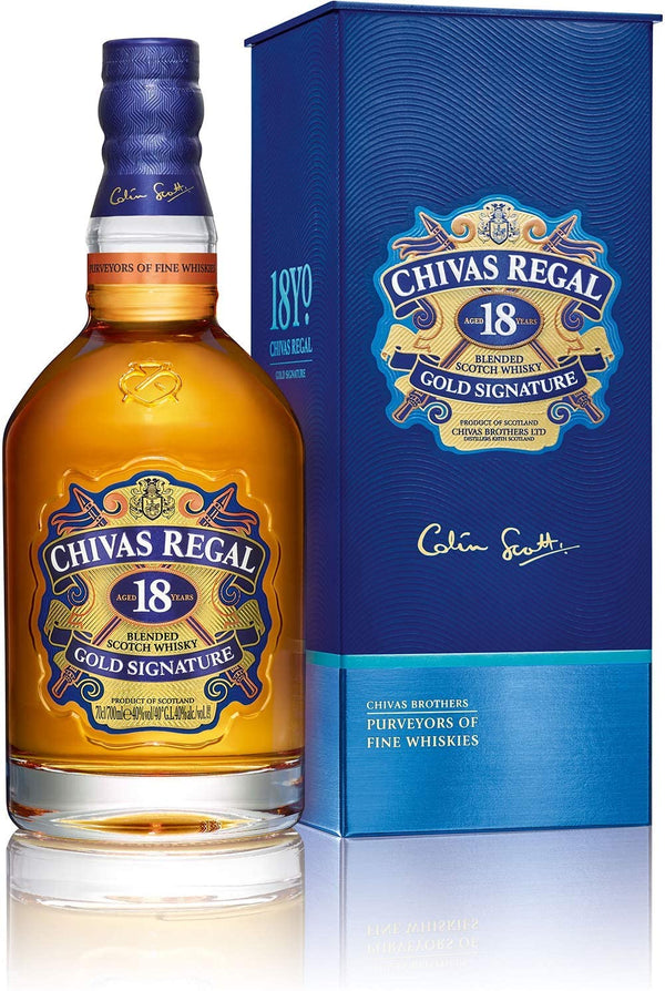 CHIVAS REGAL 18YO WHISKY 70 CL (to redeem this product via Scott Smile Rewards you need 35,000 points)
