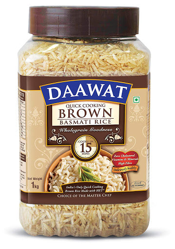DAAWAT BROWN RICE 1KG - HOUSE OF DAAWAT