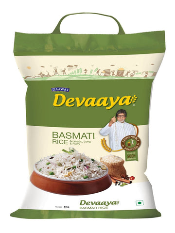 DEVAAYA BASMATI RICE 5KG - HOUSE OF DAAWAT