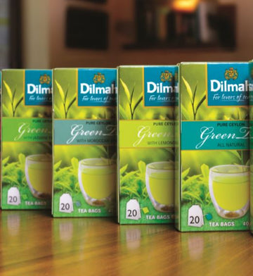 DILMAH CEYLON GREEN TEA 20B (FOIL ENV TBAG) - Different flavours