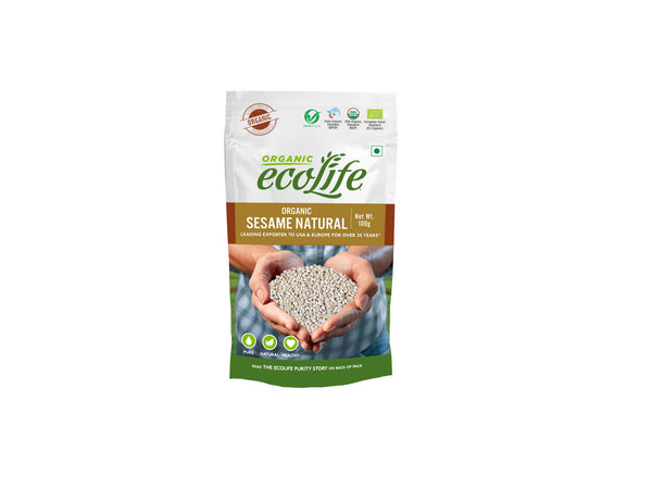 ECOLIFE ORGANIC SESAME NATURAL 100G (Best Before: 30.11.2020)