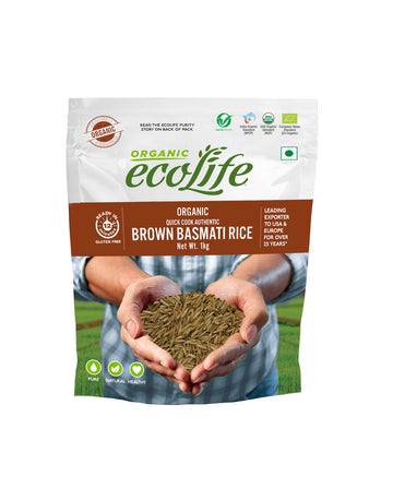 ECOLIFE ORGANIC FAST COOKING BROWN RICE 1KG