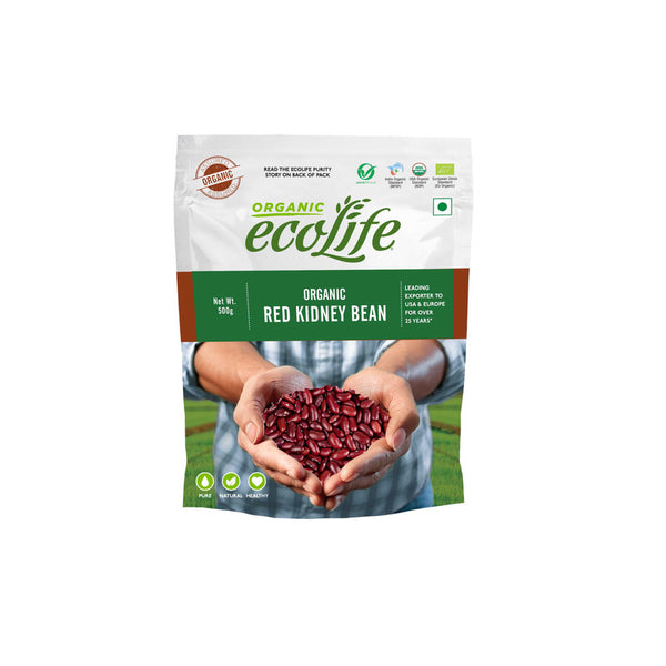 ECOLIFE ORGANIC RED KIDNEY BEAN 500G