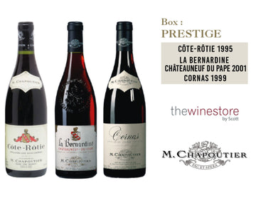 PRESTIGE SELECTION PACKX3 (COTE ROTIE RGE 1995/BERNARDINE RGE 2001/CORNAS RGE 1999) (to redeem this product via Scott Smile Rewards you need 70,000 points)