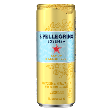 S PELLEGRINO ESSENZA LEMON ZEST 330ML (Pack of 6)
