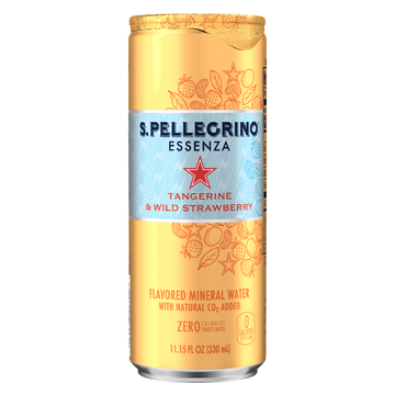 S PELLEGRINO ESSENZA STRAWBERRY 330ML (Pack of 6)