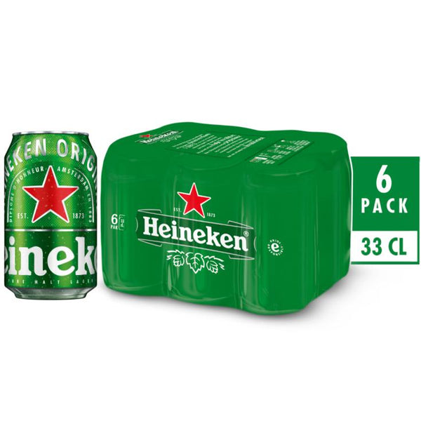 HEINEKEN CAN 33CL (PACK OF 6)