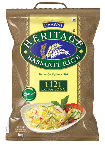 HERITAGE XXXL 1121 BASMATI RICE 5KG - HOUSE OF DAAWAT