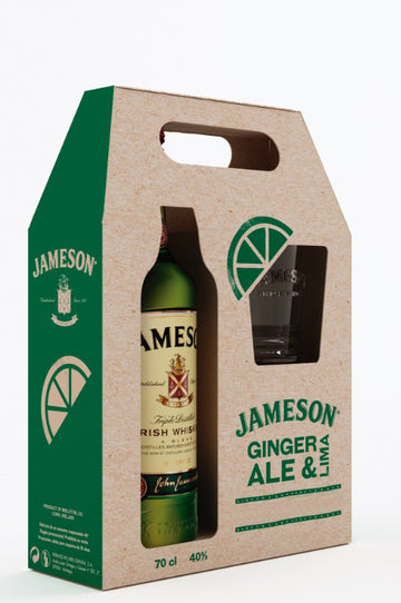 JAMESON IRISH WHISKEY 70CL + 2 GLASSES