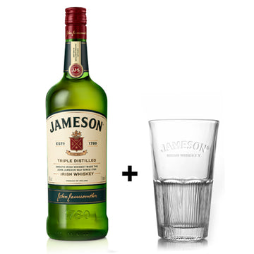 JAMESON IRISH WHISKEY 100CL + 1 GLASS