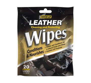 SHIELD LEATHER CARE WIPES*20