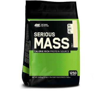 ON  SERIOUS MASS  12  LBS  - 2 flavours