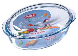 PYREX OVAL CASSEROLE 4L AND 1L SLEEVE