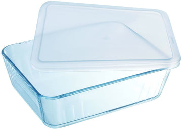 PYREX RECTANGULAR DISH WITH PLASTIC LID - 3 sizes available