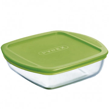 PYREX SQUARE DISH WITH PLASTIC LID - 2 sizes available