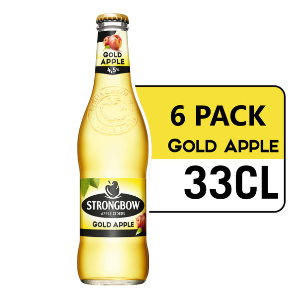 STRONGBOW GOLD APPLE CIDER 33CL (Pack x 6)