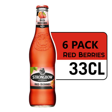 STRONGBOW RED BERRIES CIDER 33CL (Pack of 6)