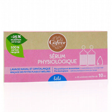 GIFRER SERUM PHYSIOLOGIQUE BEBE (24 x 10ML)