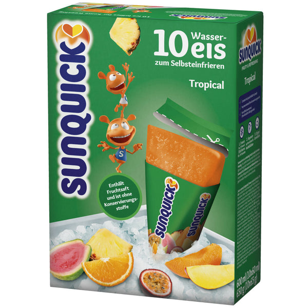 SUNQUICK ICE  LOLLIES 10*60ML - Various Flavours