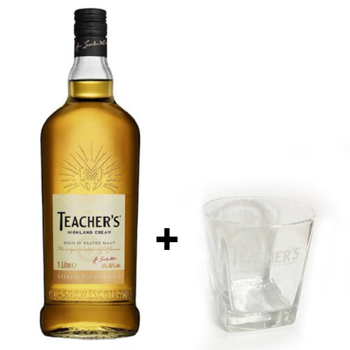 TEACHERS WHISKY 100CL + 1 GLASS