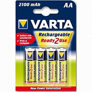 Varta Rechargeable 56706 Ready to Use (2100 mAh) - AA X4