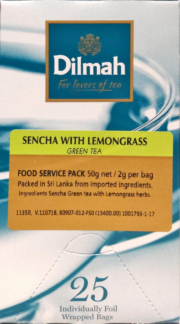 DILMAH FOOD SERVICE FOIL ENV SENCHA WITH LEMONGRASS GREEN TEA 25B