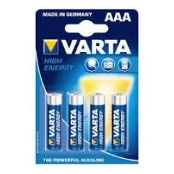 VARTA BATTERIES HIGH ENERGY AAA X4