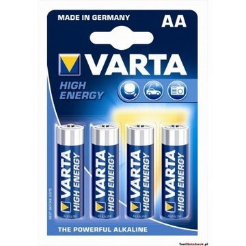 VARTA BATTERIES HIGH ENERGY AA X4