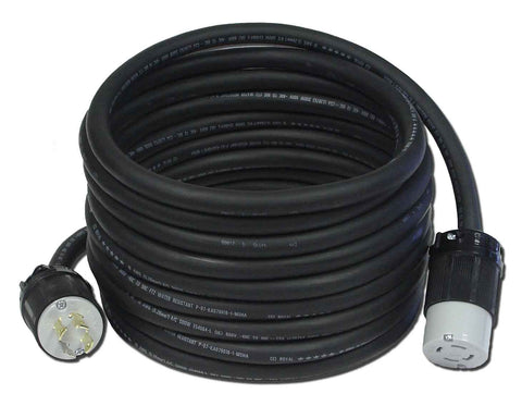 Generator Power Cord, 30 Amp, L14-30 by Powertronics Connections (TM)