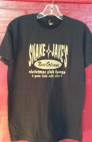 SNAKE AND JAKE'S MEN'S BLACK AND GOLD CREW NECK
