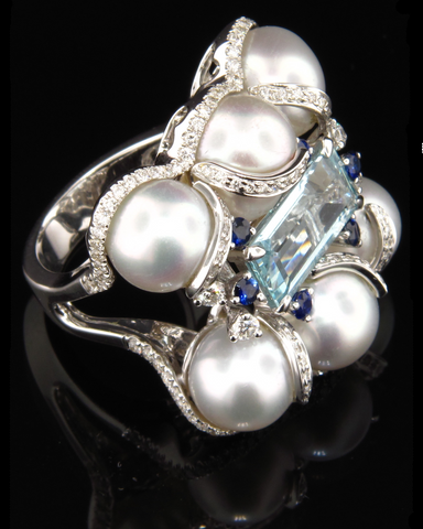 South Sea Aquamarine Ring